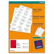 Boîte de 2400 étiquettes copieur 70X35 rouge fluo DP24R-100 - Avery