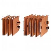 Boite de 25 dossiers suspendus az pour tiroir azx kraft orange fond 15mm 300901 - L'Oblique AZ
