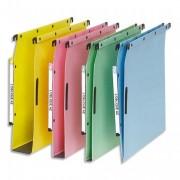 Boîte de 25 dossiers-suspendus AZL L'pour armoire. Fond 15 mm. Kraft vert. - L'Oblique AZ