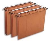 Boîte de 25 dossiers-suspendus AZO L'pour tiroir. Fond 30 mm. Kraft orange. - L'Oblique AZ
