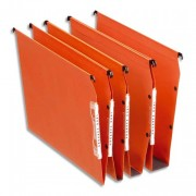 Boite de 25 dossiers suspendus en kraft orange pour armoire Dual fond de 15 mm - Esselte