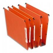 Boite de 25 dossiers suspendus en kraft orange pour armoire Dual fond V - Esselte