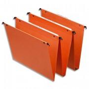 Boite de 25 dossiers suspendus en kraft orange pour tiroir Dual fond de 15mm - Esselte