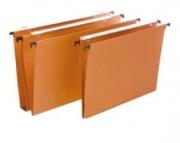 Boite de 25 dossiers suspendus kraft - Kraft 220g/m2 collé - Tringle métal