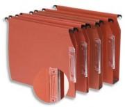 Boîte de 25 dossiers suspendus pour armoire en kraft orange 210g fond V, volet d agrafage - Esselte