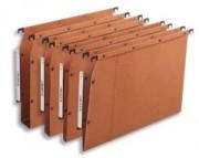 Boîte de 25 dossiers-suspendus V L'pour armoire. Fond 30 mm. Kraft orange. - L'Oblique AZ