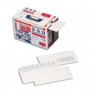 Boîte de 250 enveloppes blanches auto-adhésives 90g format 110x220 DL - La Couronne
