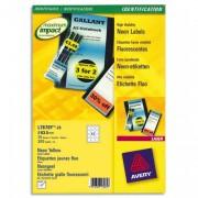 Boîte de 300 étiquettes laser jaune fluo diamètre 63.5 L7670Y-25 - Avery