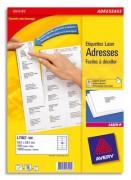 Boîte de 3500 étiquettes laserBlanc 99,1X38,1 L7163-250 - Avery
