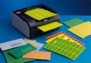 Boite de 400 étiquettes couleur 105X148,5mm jaune vif sur format A4 - -