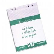 Boîte de 5 recharges FAF N°3, format 18,5X11,5cm réglure 5x5 - Exacompta