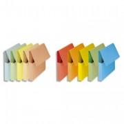 Boîte de 50 chemises à poche Vip, dos de 3 cm, carte 280g bleu vif - FAST