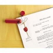 Boîte de 6 bâtons de 100g cire à cacheter coloris rouge banque - Tiflex