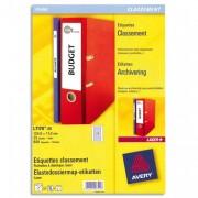 Boîte de 600 étiquettes laser pour chemise 134X11 L7170-25 - Avery