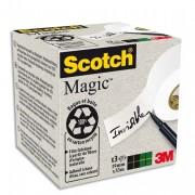Boite de 9 rubans Magic bague carton recyclé, 19mmx33m - Scotch