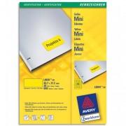 Boîte de 960 étiquettes laser 45,7 x 21,2 mm jaune L6041-20 - Avery
