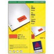Boîte de 960 étiquettes laser 45,7 x 21,2 mm rouge L6038-20 - Avery