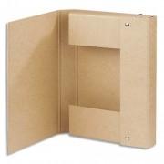 Boîte de classement à élastique Touareg Dos 5 cm coloris naturel - Elba