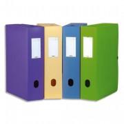Boîte de classement Boxing Memphis, dos de 8 cm, en polypropylène 7/10e coloris mode assortis - Elba