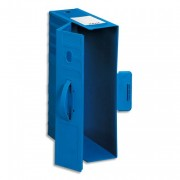 Boîte de classement Max , dos de 9,5 cm, poignée amovible, en polypropylène rigide bleu - Rexel