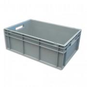 Boite de rangement 42L Euronorm en polypropylène gris L40xH22xP60cm - Viso