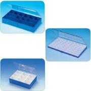 Boites en plastique à compartiments - Matière : Polystyrène - Dimensions(L x l x H) : 295 x 175 x 42 mm