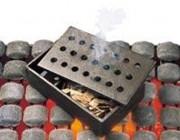 Boîte fumoir en fonte - Dimensions (L x l x H) : 20 x 13 x 8 cm