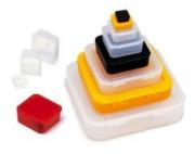 Boite plastique à charnière - Forme : Carrée ou Rectangulaire - Modèle à charnière