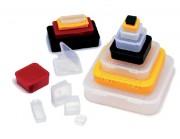 Boîtes en plastiques - Matière : Polypropylène - Dimensions ( l x l x H) : 35 x 35 x 25.4 mm