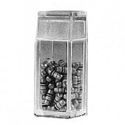 Boite plastique pour composants électroniques - Dimensions (L x l x H): 6 x 6 x 19 mm - Capacité : 60 ou 130 boites - Modèle : Boîte V4-1