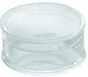 Boite en plastique ronde - Dimensions ( D x H ): 18 x 8 mm - Modèle : Rond