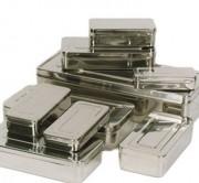 Boîte rectangulaire à instruments médicaux - Matière : inox 18/10 - Format : Rectangulaire