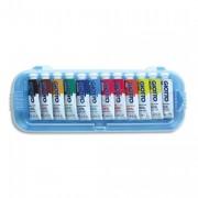 Boite rigide packeboardable de 12 tubes 10ml de gouache fine assortis - GIOTTO