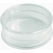 Boite ronde en plastique - Matière : Polystyrène cristal - Dimensions: 42 x 14 mm - Volume  : de 14 à 33 cm³