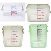 Boîtes carrées rubbermaid de stockage alimentaire polycarbonate - Capacité (L) : de 3.8 à 20.8