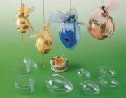 Boites de décoration en plastique cristal - Diamètre  : 100 mm - Matière : Polystyrène cristal