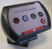 Boitier commande véhicule spécialisé - Dimension avec couvercle de protection  40 x 120 x 154 mm