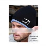 Bonnet personnalisé - 62 g/m² - 100% acrylique - tricoté - forme plate