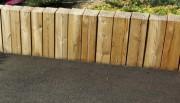 Bordure en bois pin - Traverses de chemin de fer en pin sylvestre traité autoclave classe 4