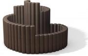 Bordure rondin plastique recyclé - Fabriqué en plastique recyclé - L x l x H : 160 x 125 x 75 cm