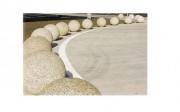 Borne béton sphérique - Surface sablée - A sceller
