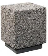 Borne carrée en béton - Résistance mécanique et durabilité