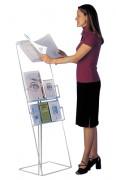 Borne consultation plexiglas - Matière : plexiglas ép 8mm - Capacité 4cm - Hauteur: 130 cm