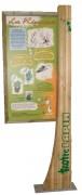 Borne d'information en bois Hauteur 2200 mm - Hauteur : 2200 mm - Pin traité autoclave classe 4