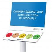 Borne de satisfaction clients employés - Mesurez l'engagement de vos employés / la satisfaction de vos clients au quotidien