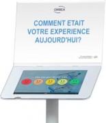 Borne de satisfaction tablette - Avec un écran de question de taille A4