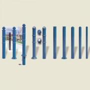 Borne de ville en acierà sceller - A sceller ou amovible à clé