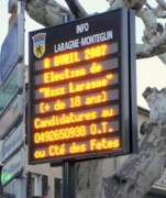 Borne électronique information municipal - Hauteur des caractères : 80-90 ou 110 mm - 5 ou 7 lignes d'affichage
