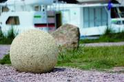 Borne en béton aspect sablé - Diamètre : 40 -  Hauteur : 37 cm -  Poids : 84 Kg
