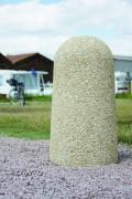 Borne en béton H 75 cm - Diamètre 35 cm en tête, 40 cm en base - Hauteur : 75 cm - Poids : 176 Kg